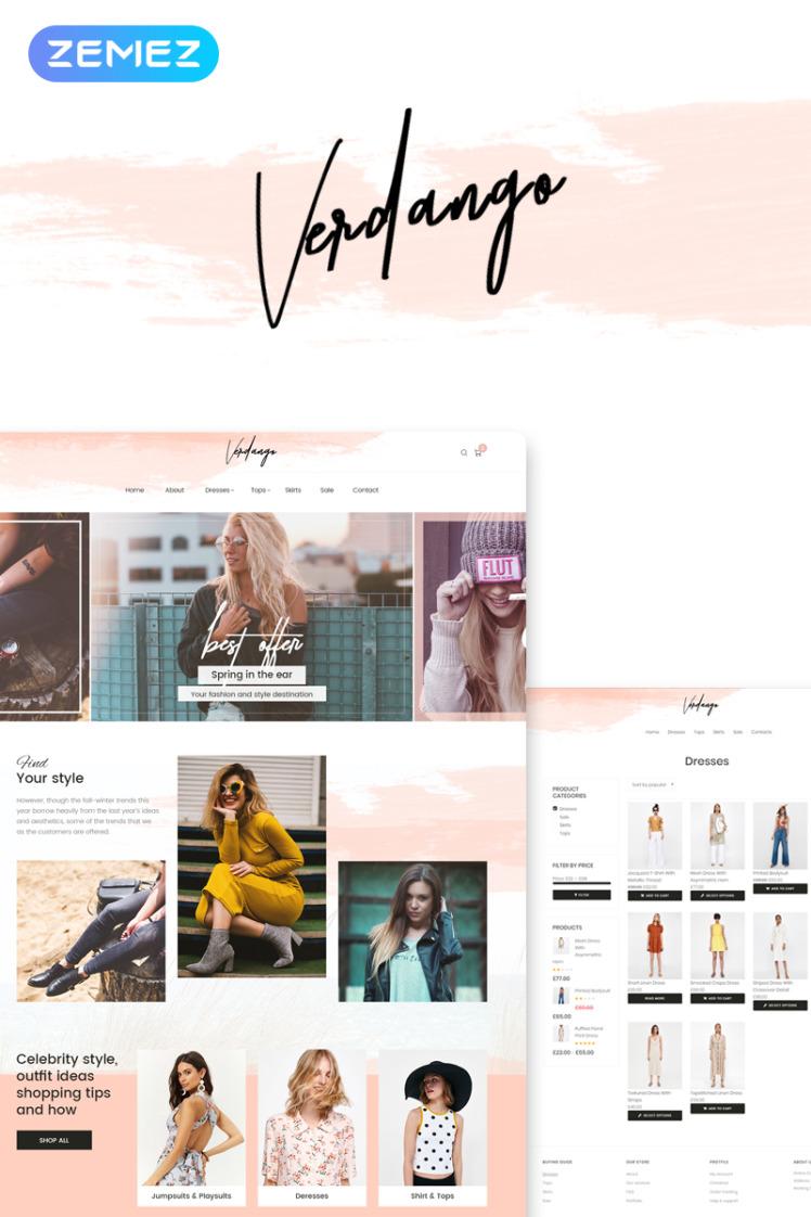 Verdango Fashion Store Elementor WooCommerce Themes