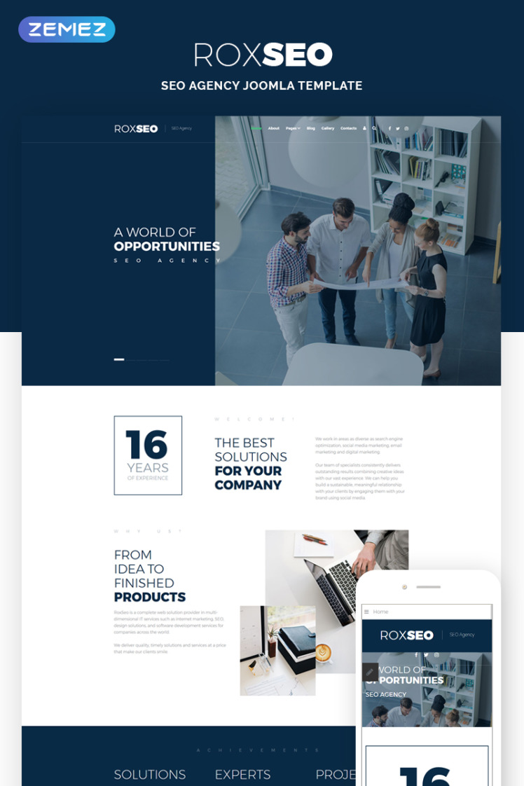 ROXSEO SEO Agency Joomla Templates