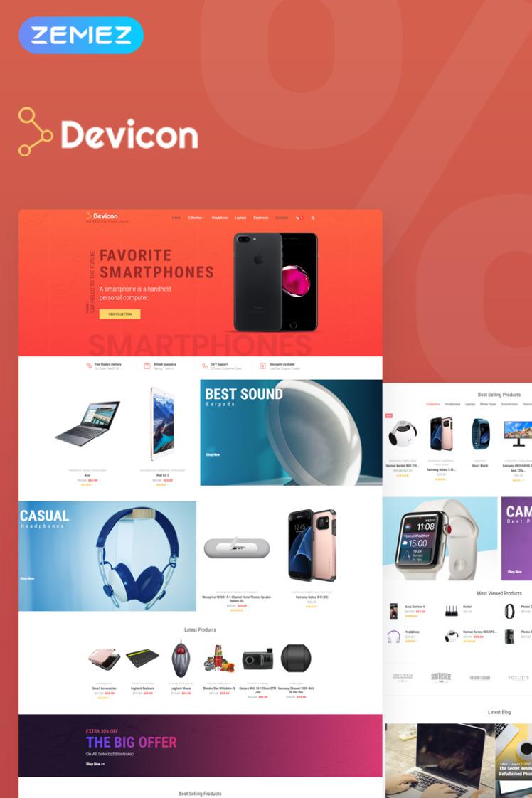 Devicon Electronics Store Elementor WooCommerce Theme