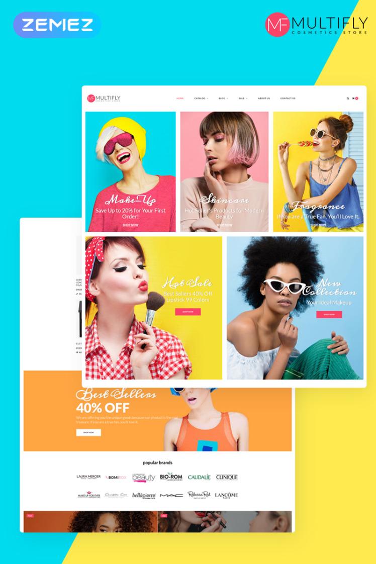 Exotonic Cosmetics Store Elementor WooCommerce Theme