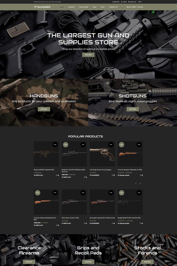 Gunnger Gun Store Shopify Themes