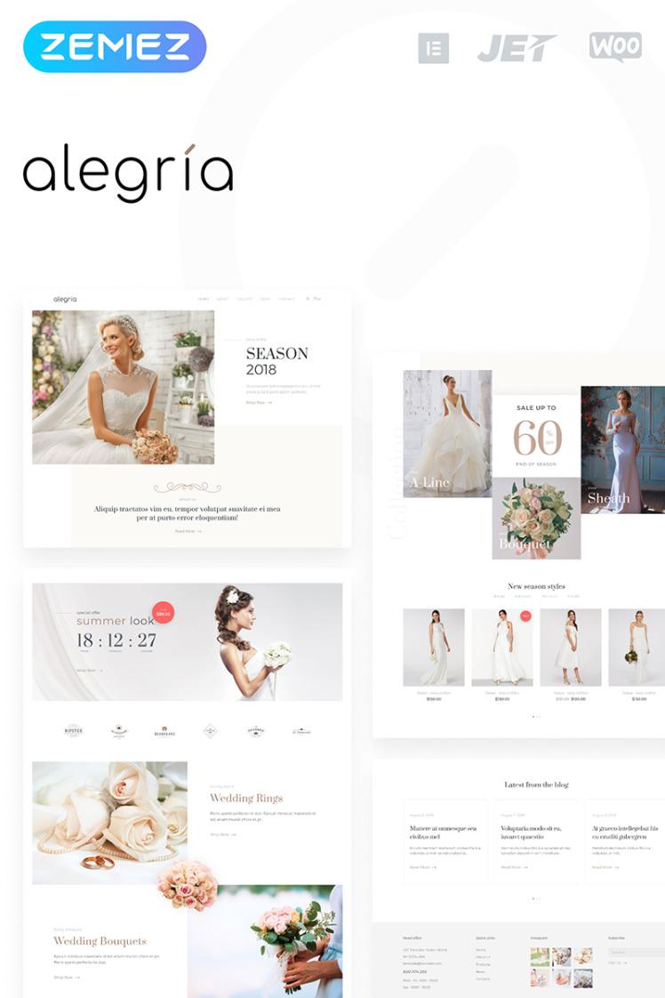 Alegria Wedding Salon Elementor WooCommerce Themes