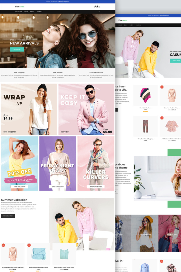 Flawsome Responsive Fashion Clothing WooCommerce Theme