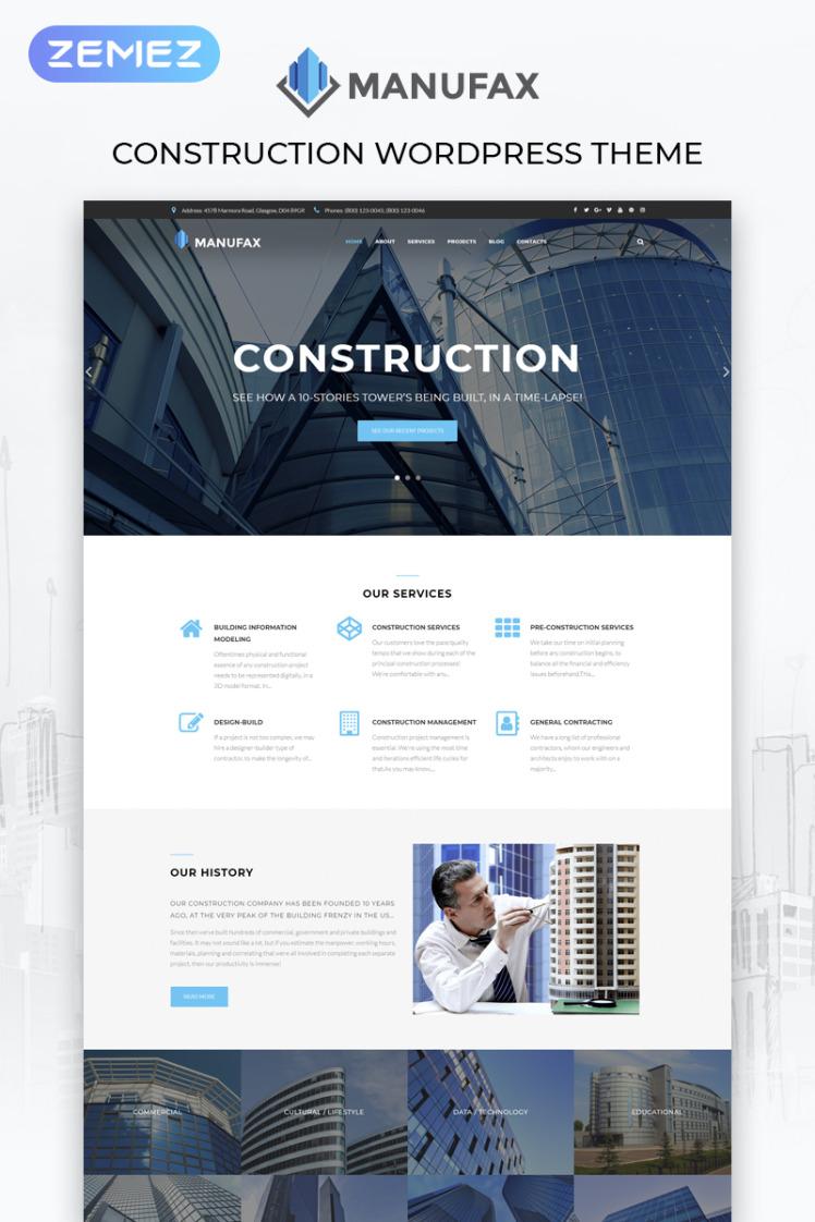 Manufax Construction Multipurpose Creative Elementor WordPress Themes