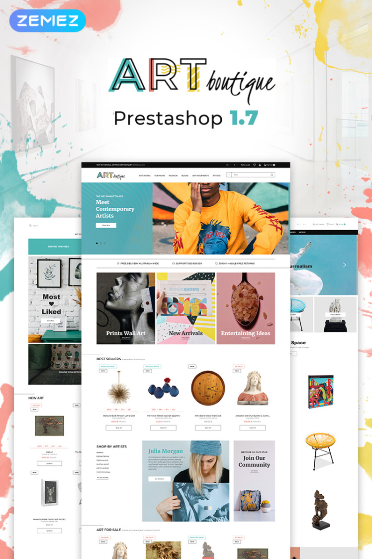 ARTboutique Art Gallery Modern Bootstrap Ecommerce PrestaShop Themes