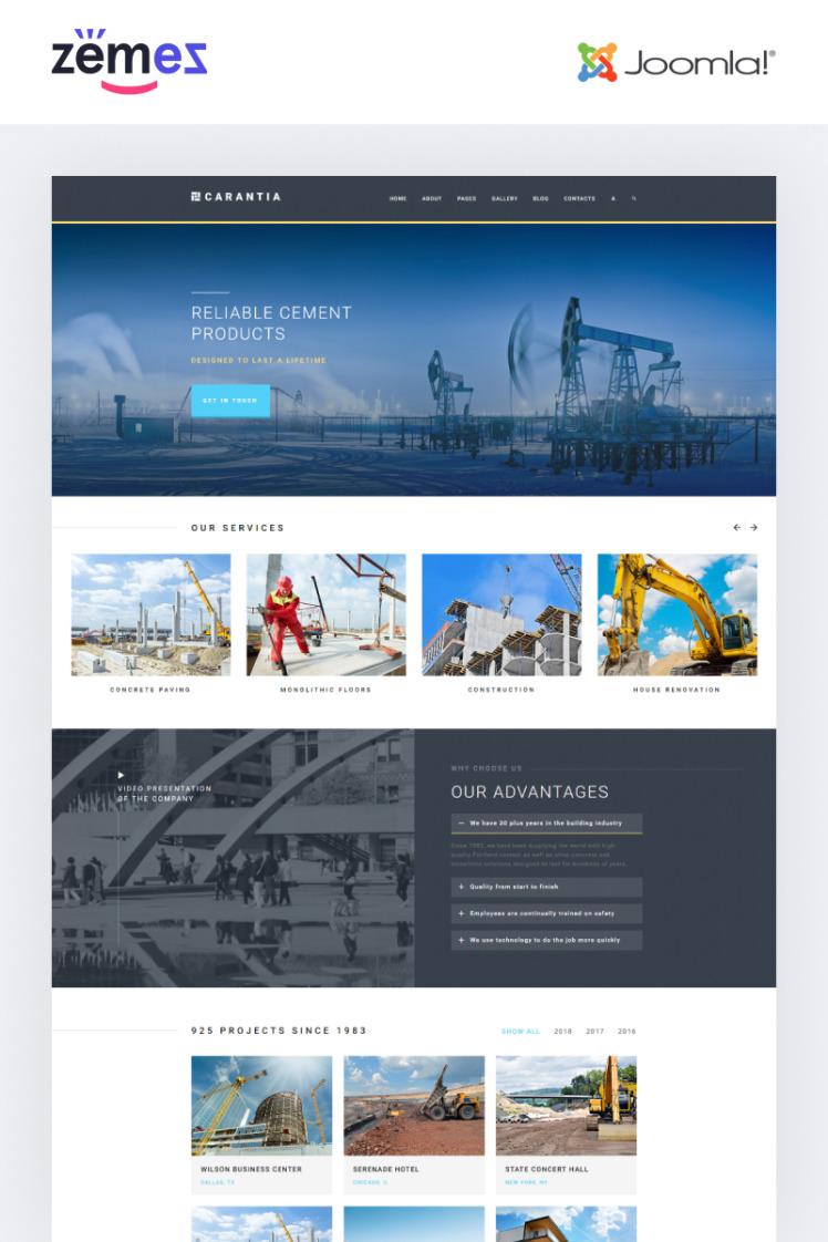 Carantia Construction company Joomla Templates