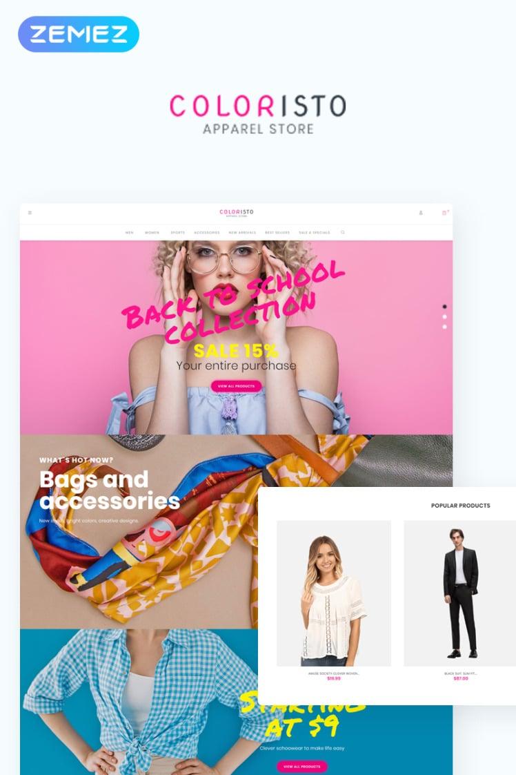 Coloristo Apparel Store ECommerce Modern Elementor WooCommerce Theme