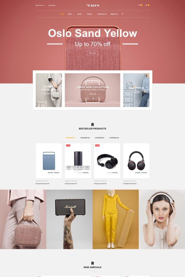 Taron Multipurpose WooCommerce Themes