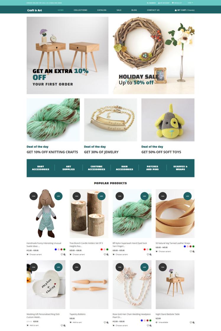 Craft Art Handmade Craft Store Shopify Theme