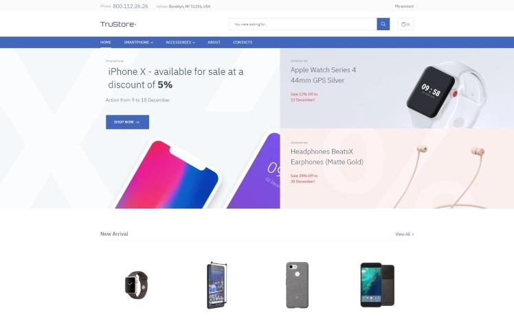 TruStore Gadgets Store ECommerce Minimal Elementor WooCommerce Theme