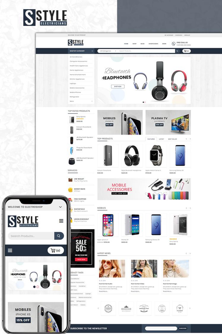 Electroshop Electronics Store WooCommerce Theme