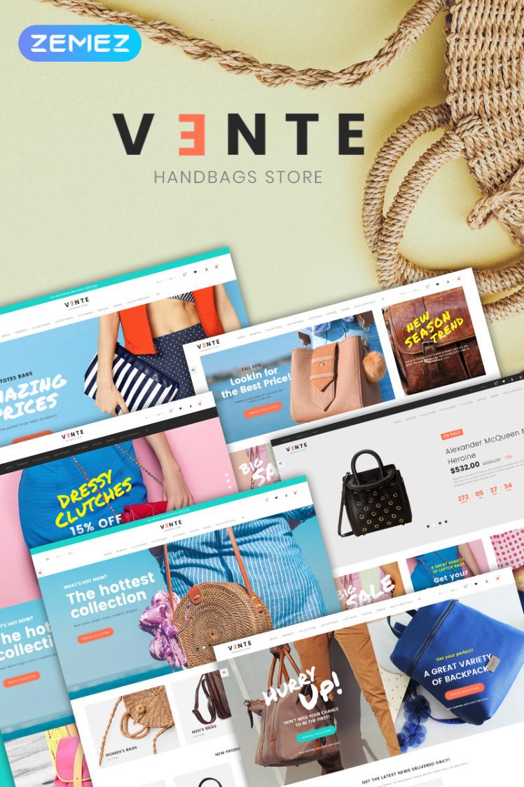 Vente Handbag Store Clean Bootstrap Ecommerce PrestaShop Themes
