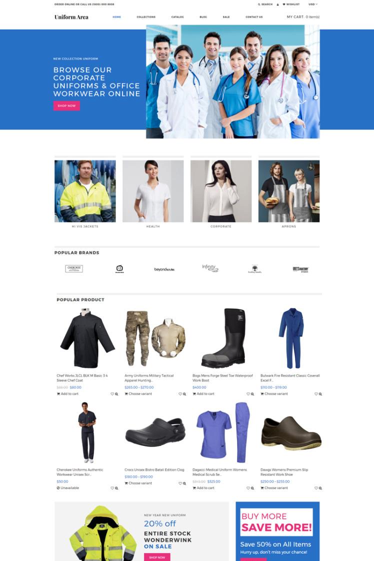 Uniform Area Multipage Clean Shopify Theme