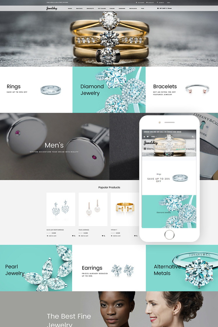 JewelShop Accessories Elegant Shopify Theme