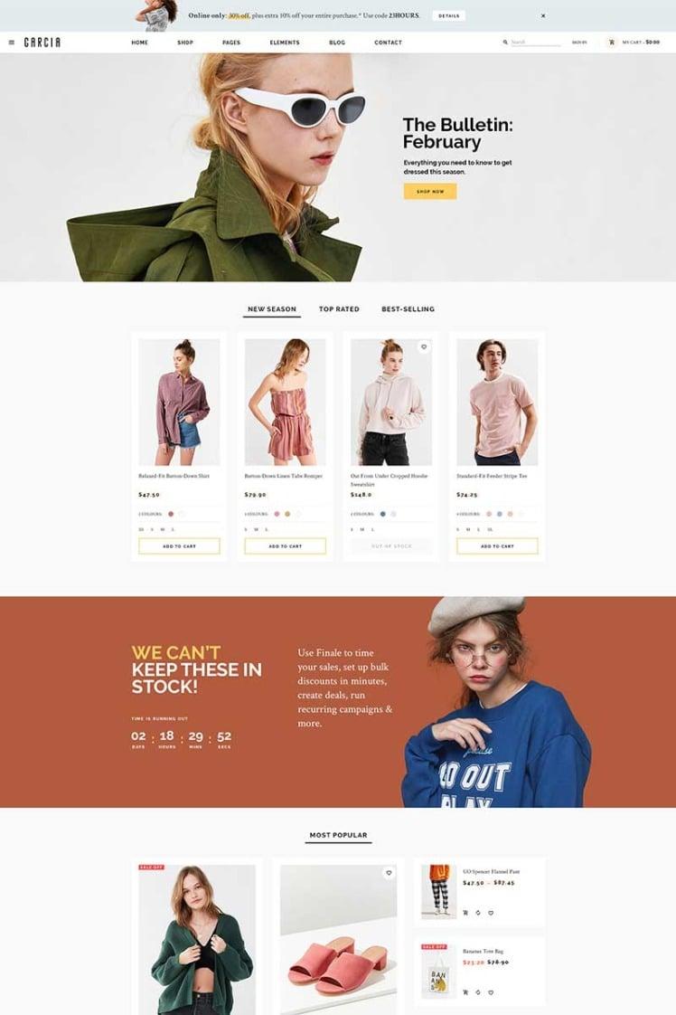 Garcia Responsive Fashion WooCommerce Theme