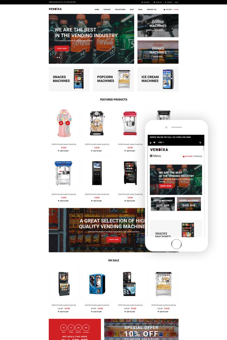 Vendixia Vending Machines Clean Shopify Theme