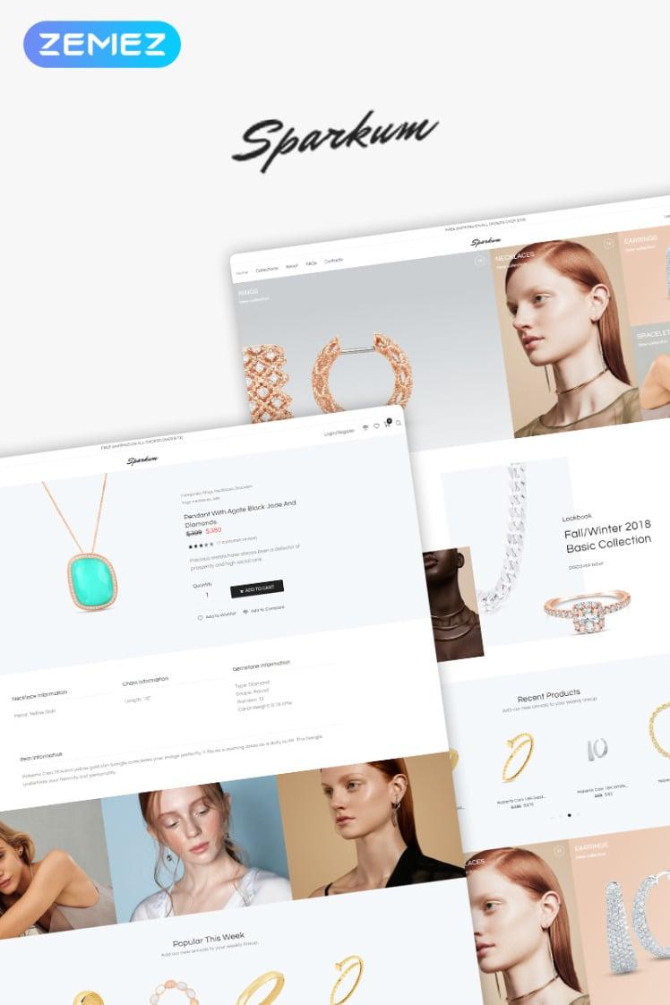 Sparkum Jewelry ECommerce Classic Elementor WooCommerce Theme