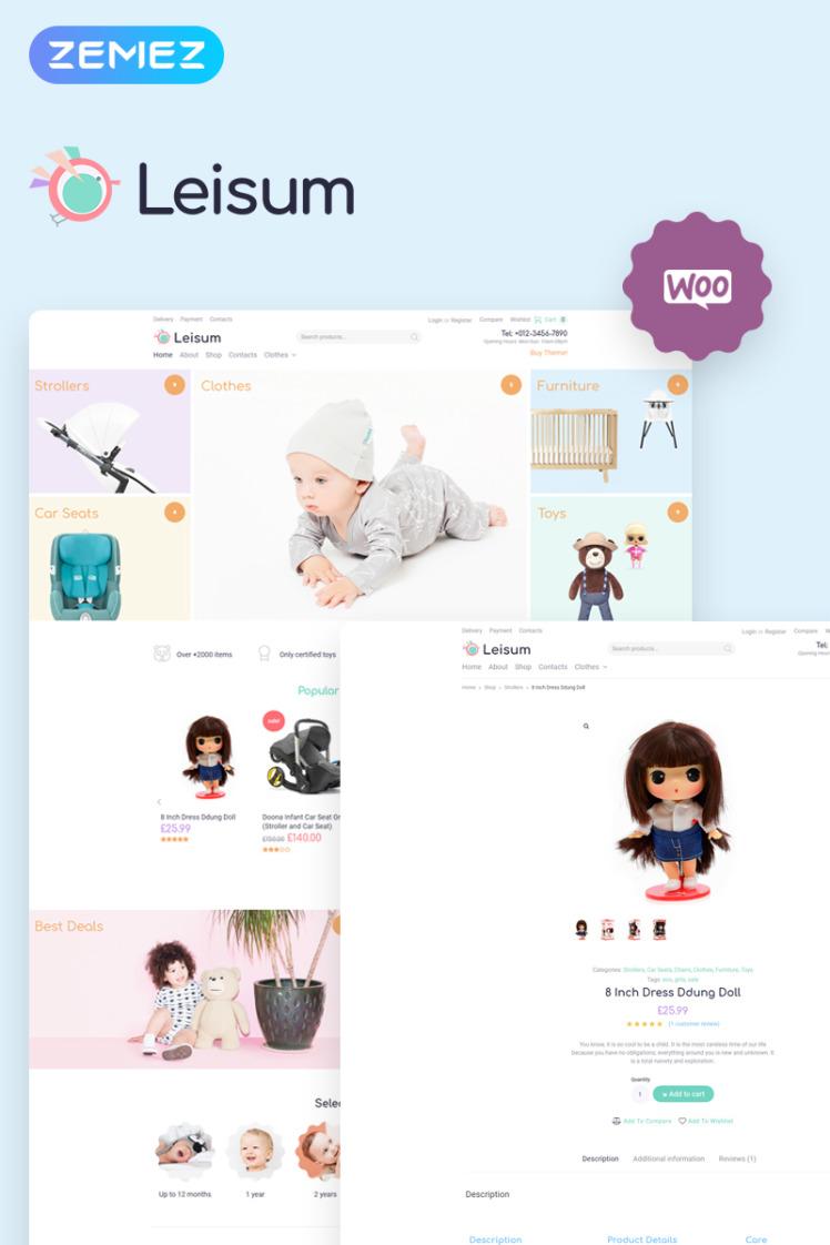 Leisum Kids Store ECommerce Minimal Elementor WooCommerce Themes