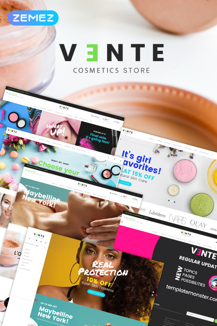 Vente Cosmetics Store Clean Bootstrap Ecommerce PrestaShop Themes