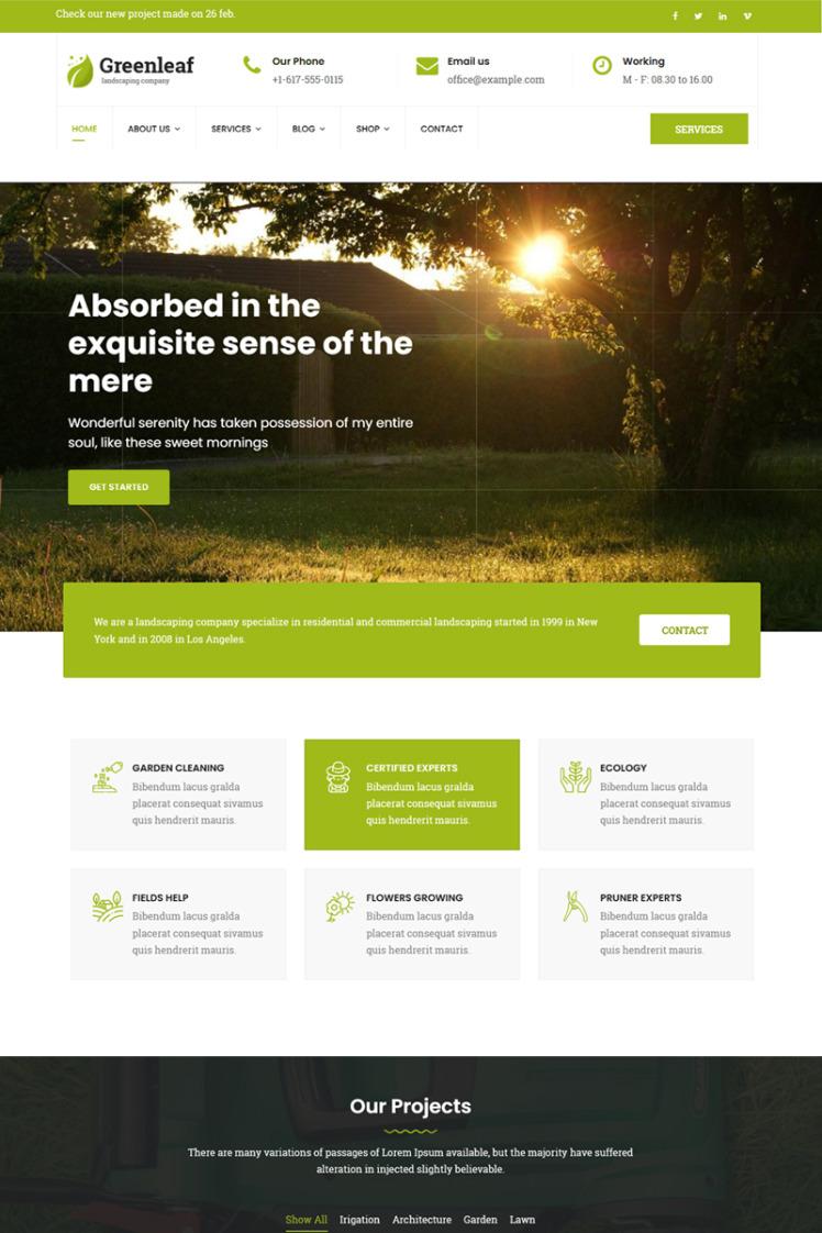 Greenleaf Gardening Lawn Landscaping Joomla Templates