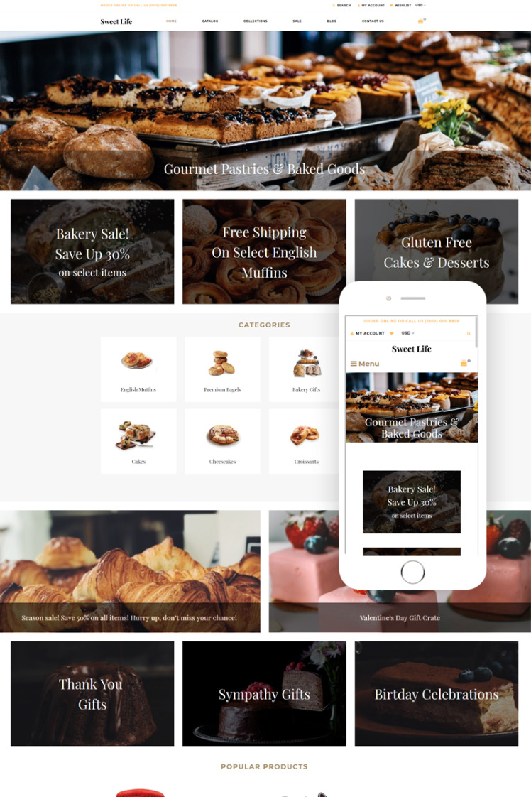 Sweet Life Sweet Shop Creative Shopify Theme