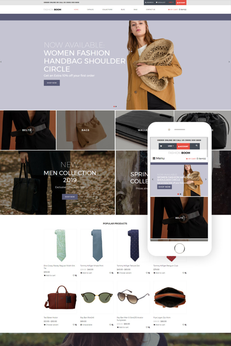 Fashion Boom Fashion Elegant Shopify Themes
