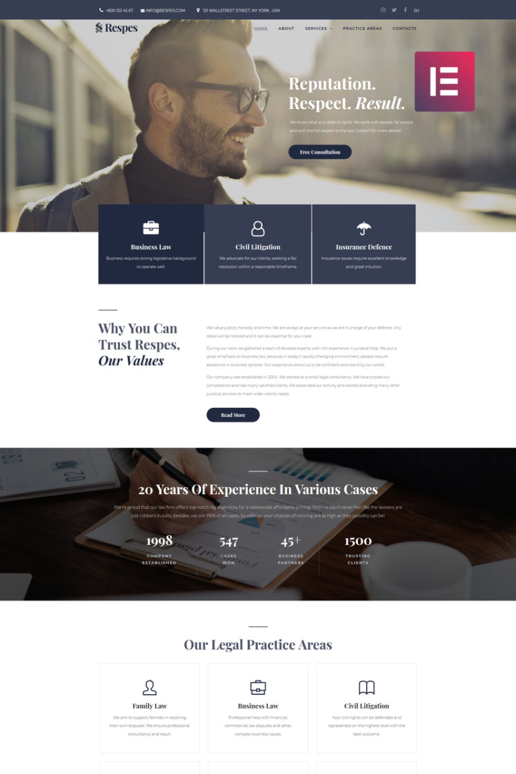 Respes Lawyer WordPress Themes