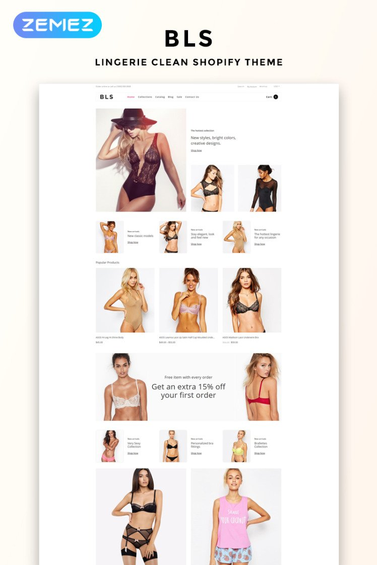 BLS Lingerie Ecommerce Clean Shopify Themes