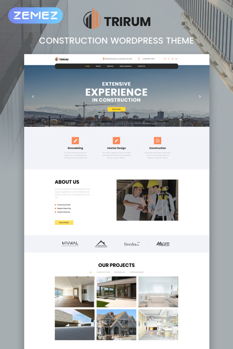 Trirum Construction Multipurpose Modern Elementor WordPress Themes