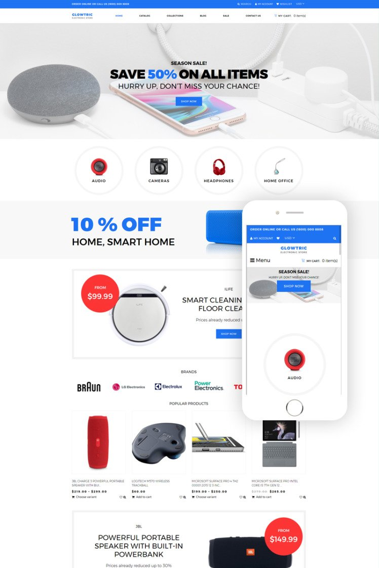 Clowtric Electronics Gadgets Multipage Shopify Themes