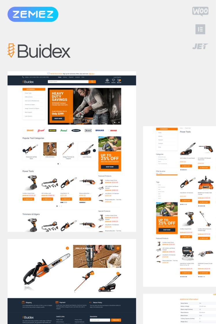 Buidex Tools ECommerce Classic Elementor WooCommerce Themes