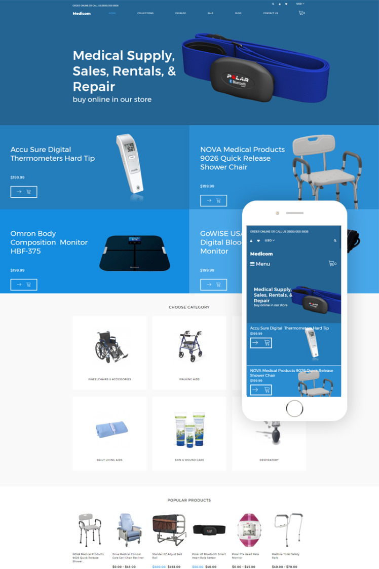 Medicom Medical Equipment Multipage Clean Shopify Themes