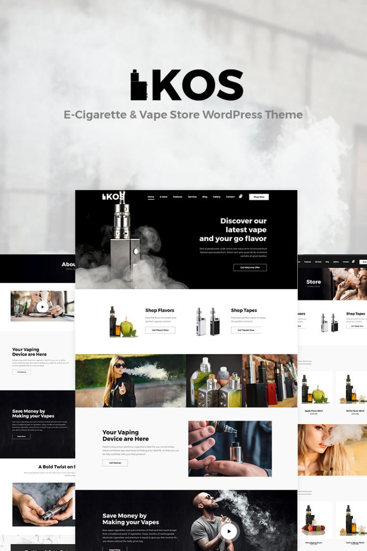 Ikos ECigarette Vape Store WordPress Theme
