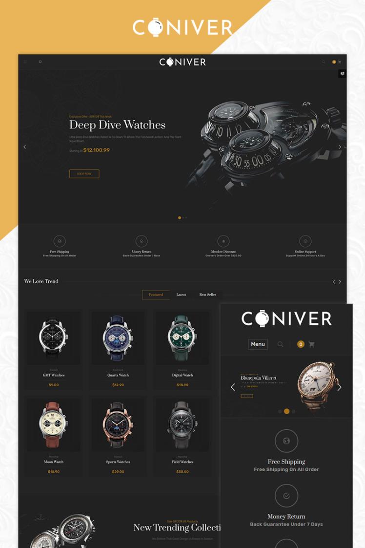 Coniver Brand Watch Bootstrap Responsive PrestaShop Themes