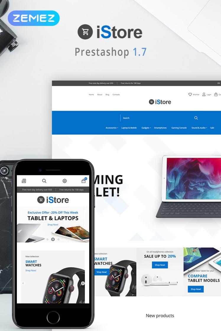 iStore Electronics Shop Clean Bootstrap Ecommerce PrestaShop Themes