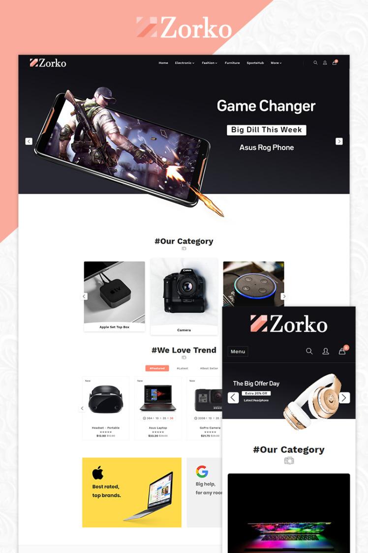 Zorko Electronic Multipurpose Store PrestaShop Themes