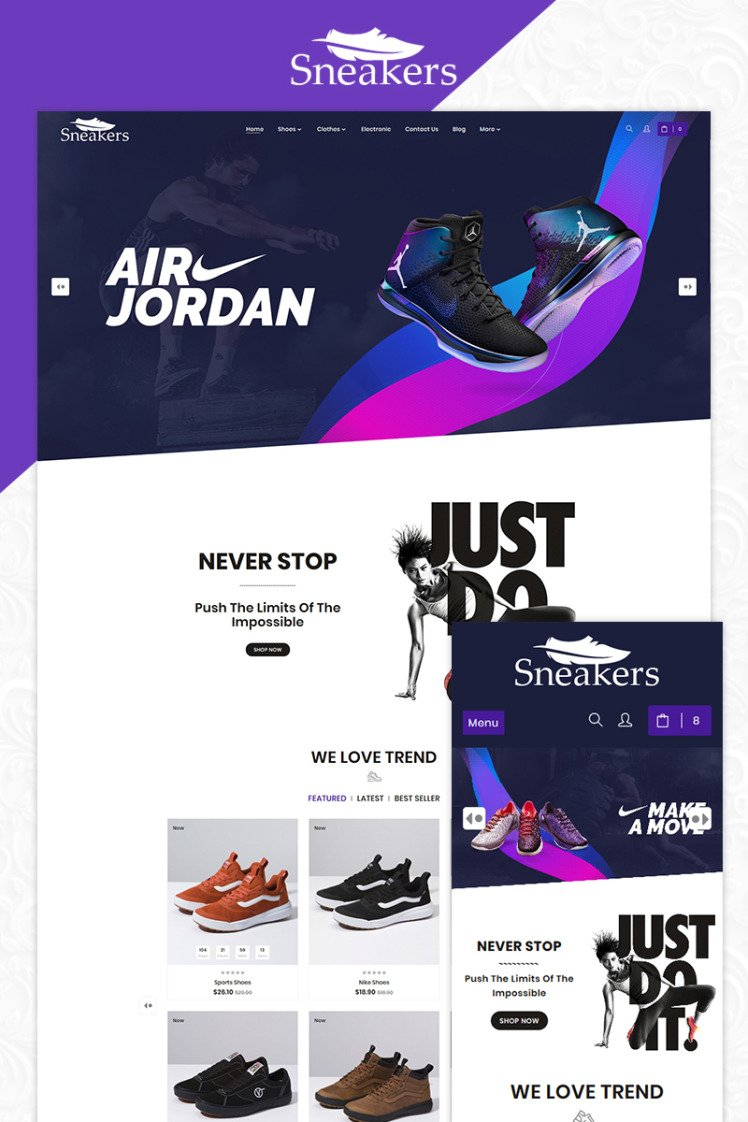 Sneakers The Sport Shoes Store PrestaShop Themes