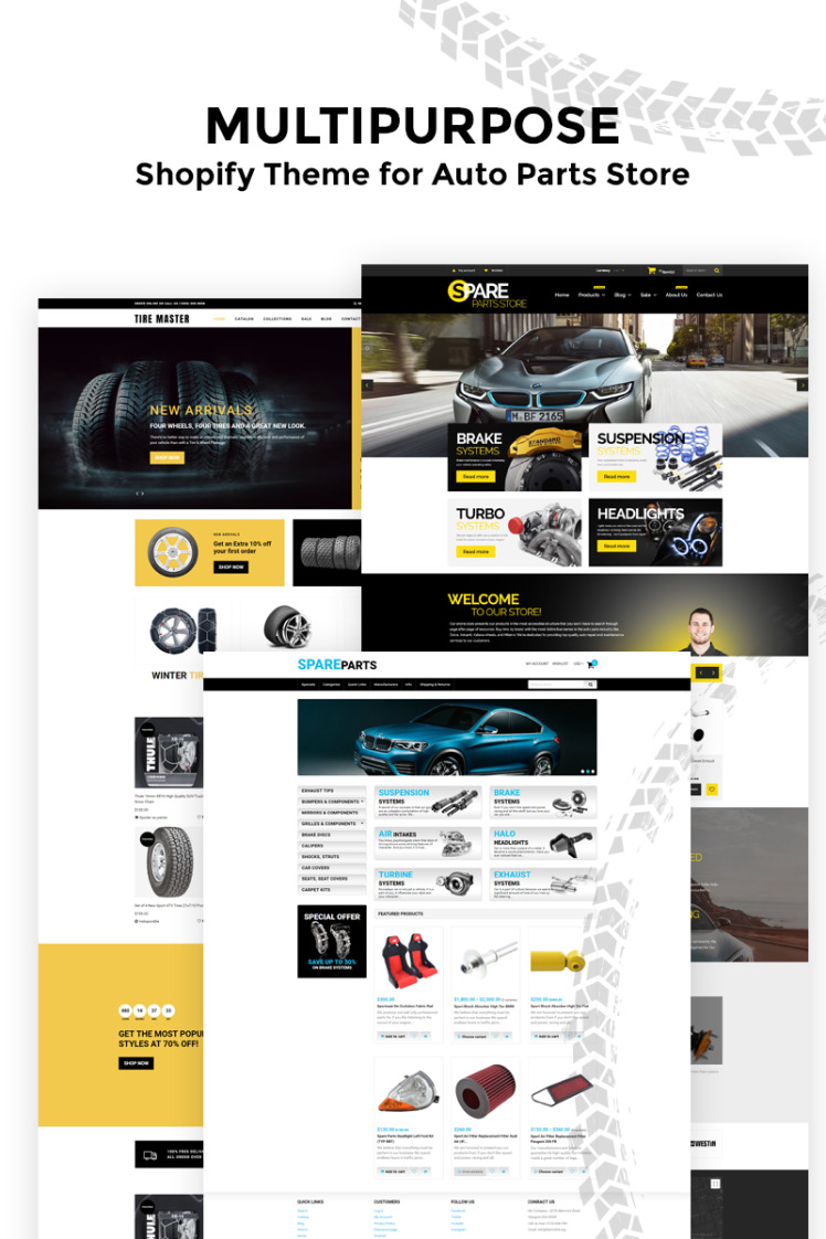 Tire Master Wheels Tires Multipage Clean Shopify Themes
