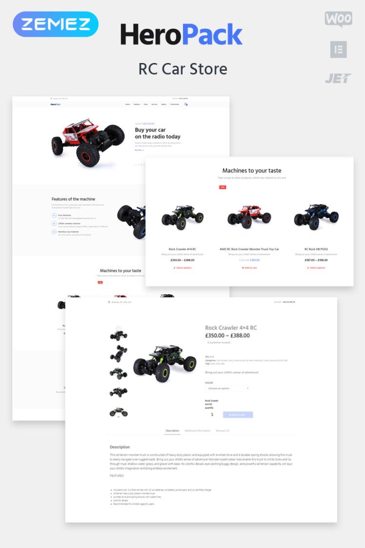 HeroPack Toys ECommerce Classic Elementor WooCommerce Themes