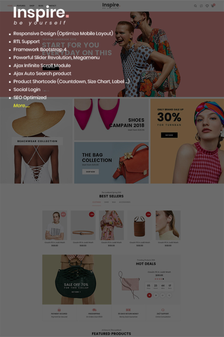 Inspire Responsive eCommerce Shopify Themes
