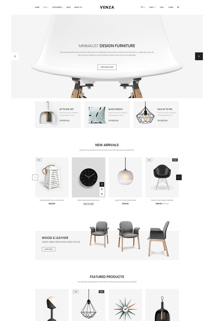 Venza Responsive eCommerce Shopify Themes