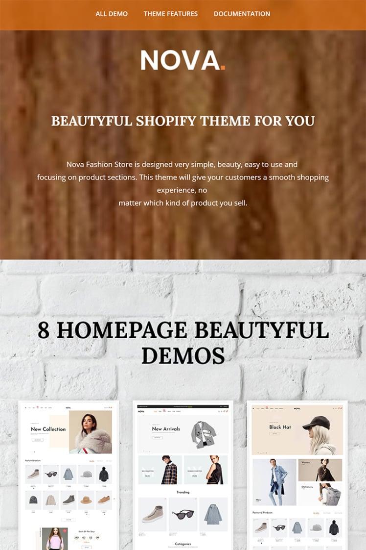 Nova Fashion Shopify Themes