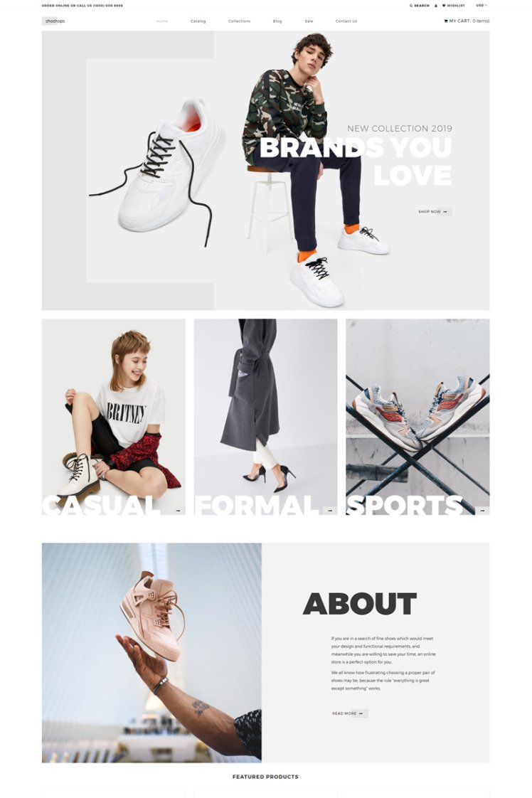 shoshops Shoe Store Clean Shopify Theme