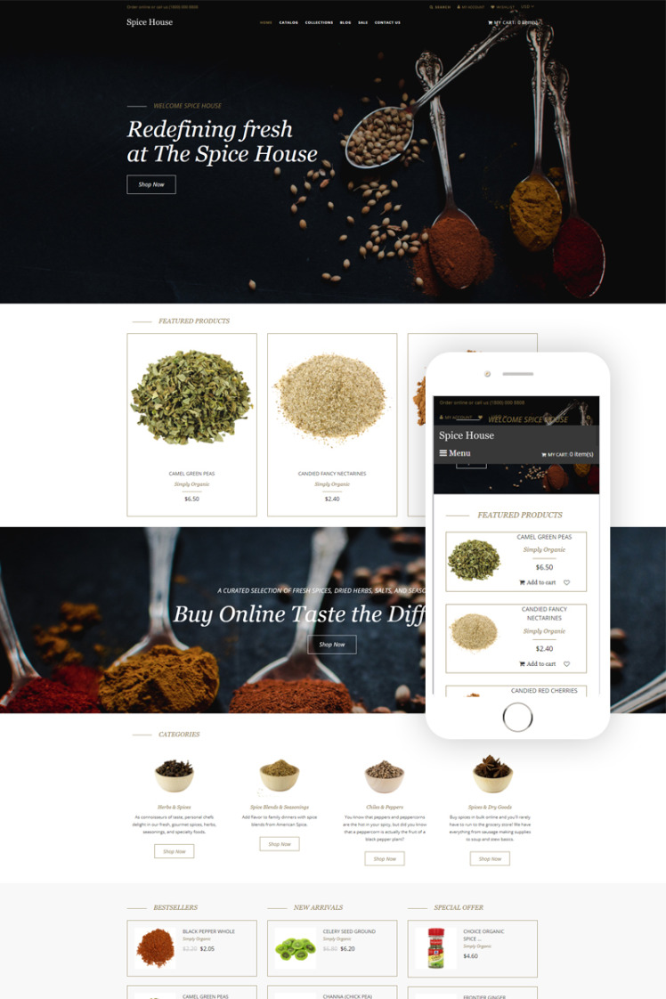 Spice House Spice Shop Modern Shopify Theme