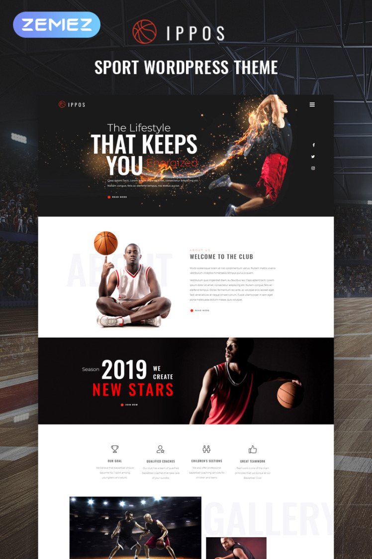 Ippos Sport Multipurpose Modern Elementor WordPress Themes