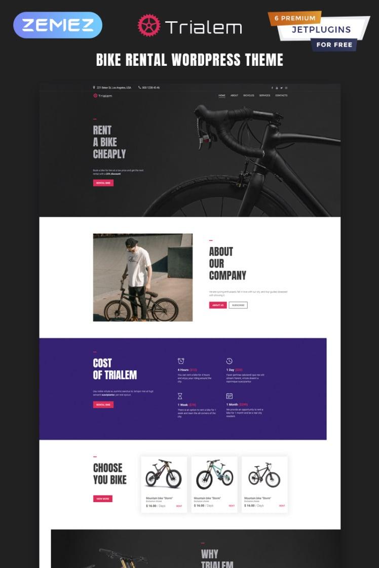 Trialem Bike Rental Multipurpose Modern Elementor WordPress Themes