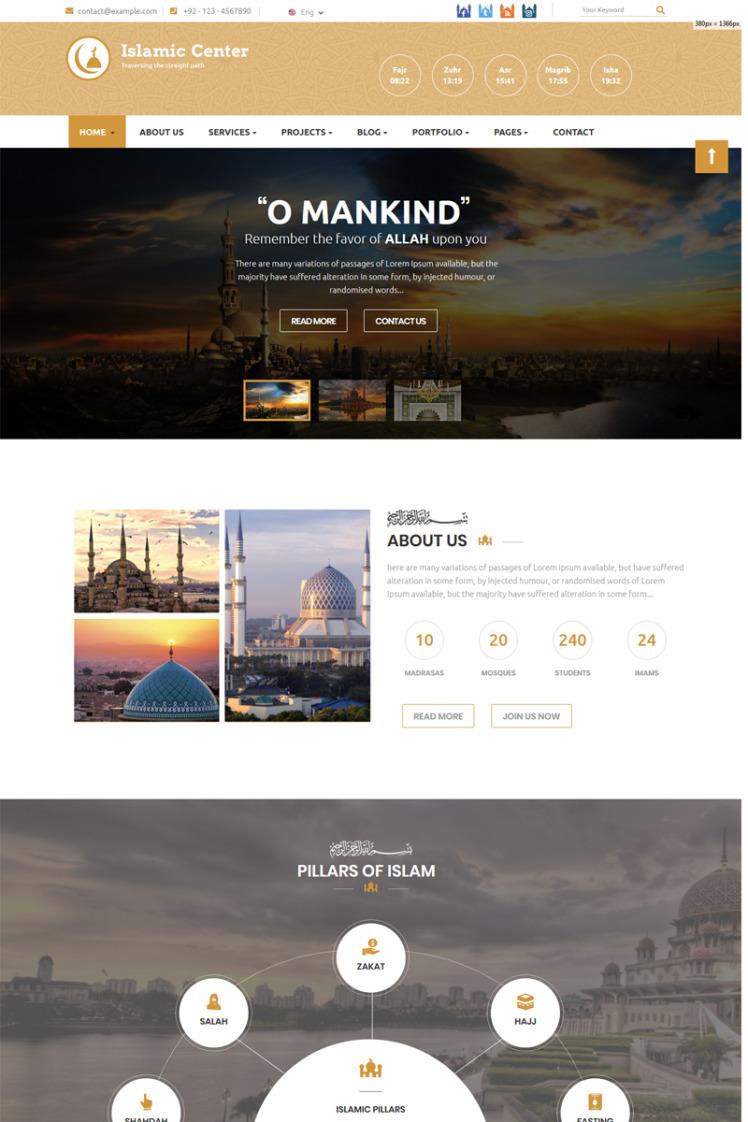 Islamic Center Joomla Templates