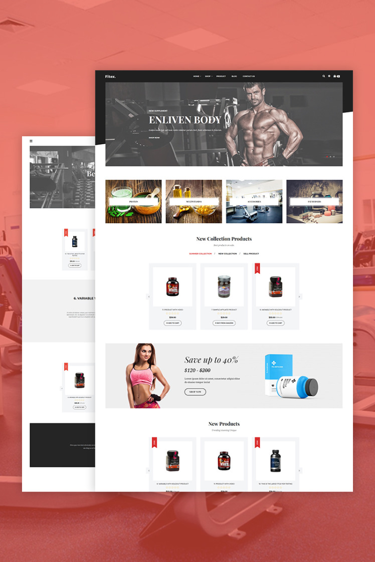 Fitex Sport Nutrition Shopify Themes