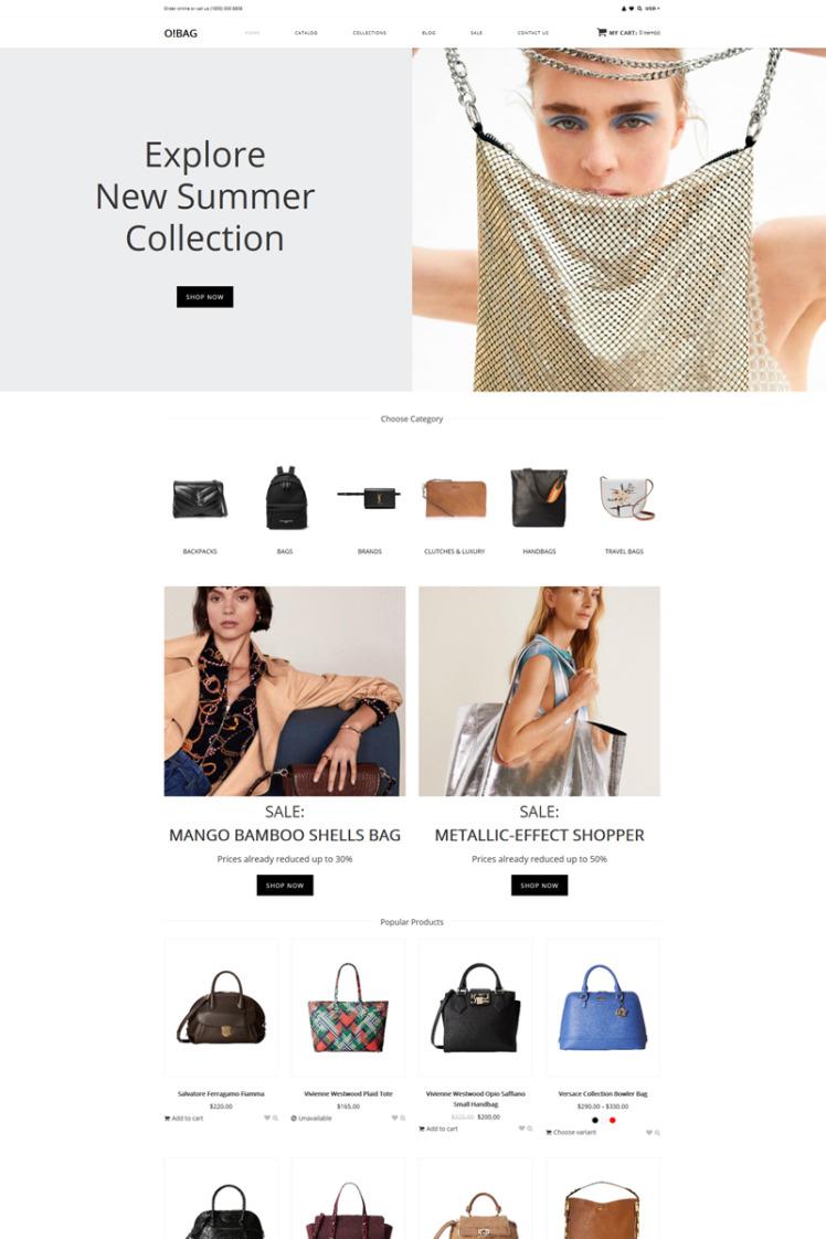 OBAG Bag Shop Clean Shopify Theme