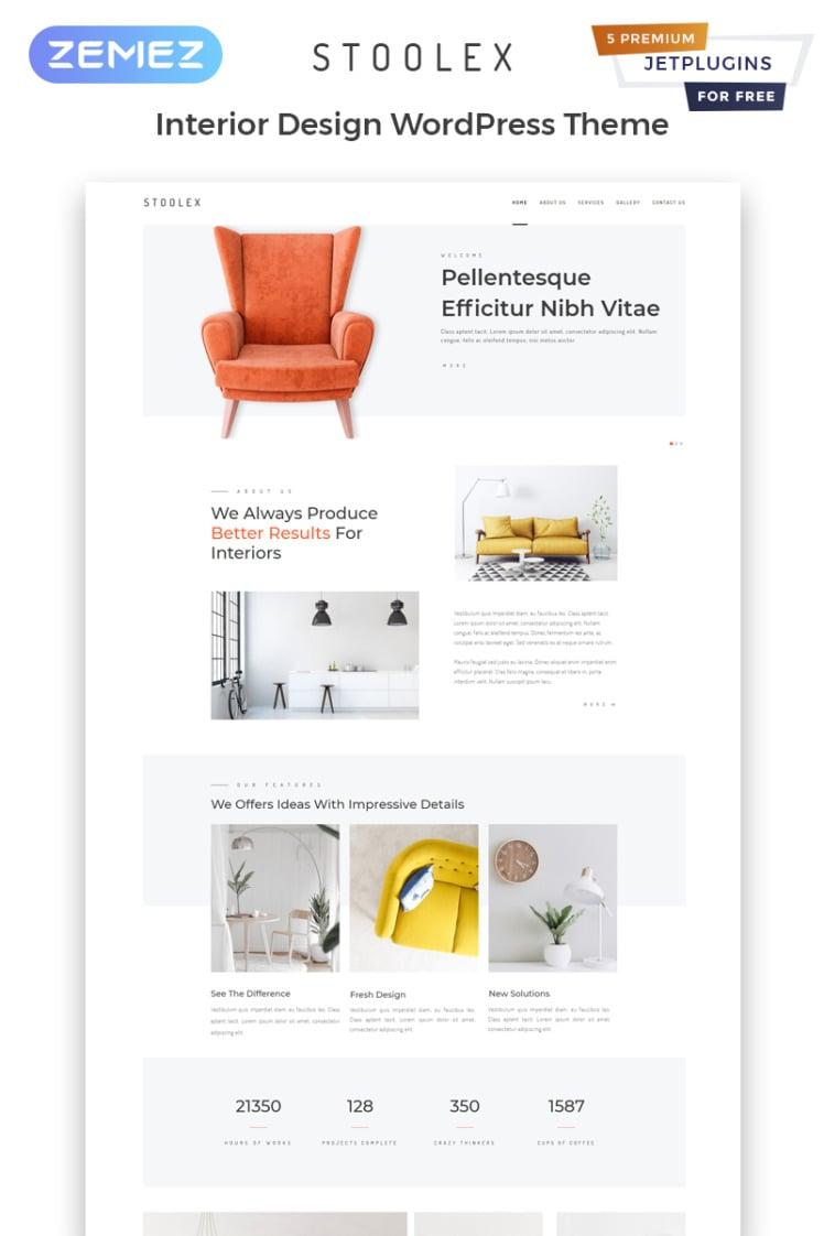 Stoolex Interior Design Multipurpose Minimal Elementor WordPress Theme